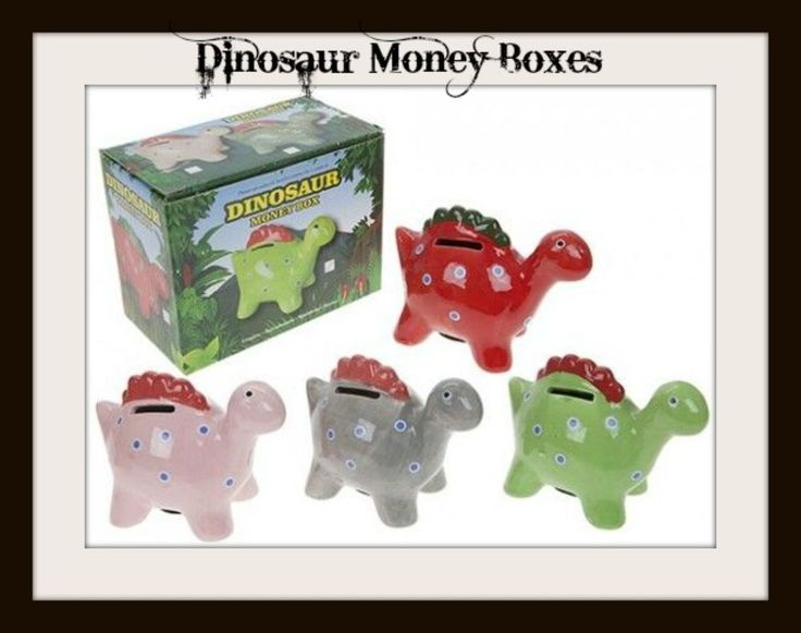 DINOSAUR MONEY BOX - ASSORTED - POLYSTONE - 5 inches x 4inches Children NEW