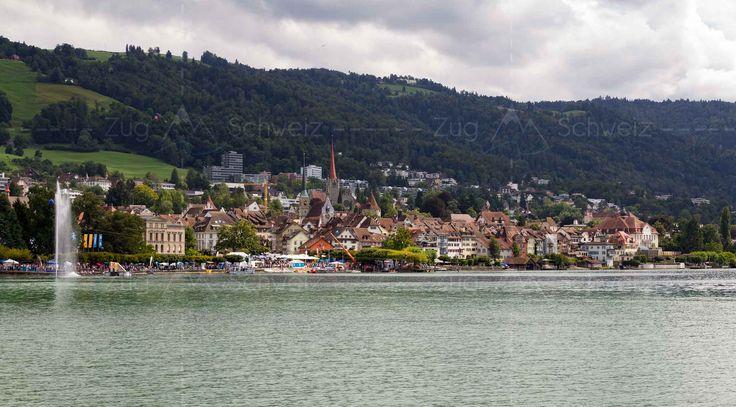 Altstadt #Zug und #Zugersee im Kanton Zug in der Schweiz (Switzerland)
