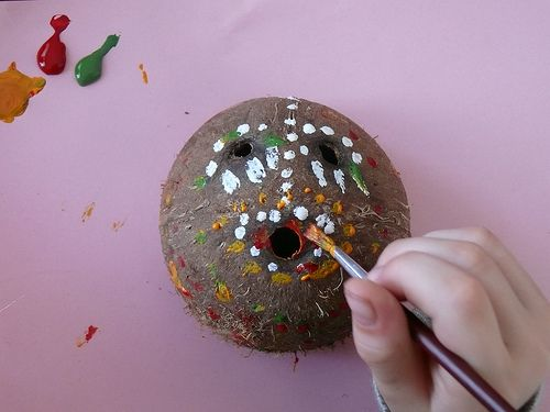 Coconut Craft : African Wall Masks