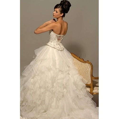 This one is similar to the dress that sent me on the crazy wedding dress hunt!