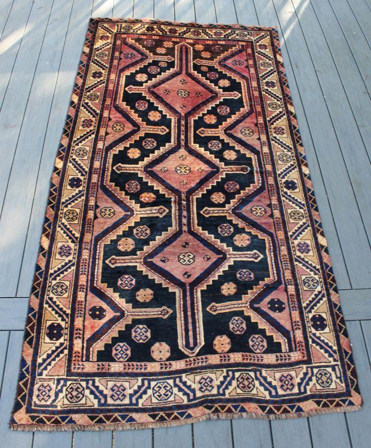 "4'1""x7'10"" Semi-Antique Persian Tribal Rug"