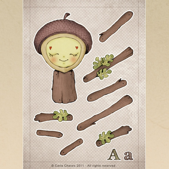 A is for Acorn by ♥ ribonita ♥ (catching up), via Flickr