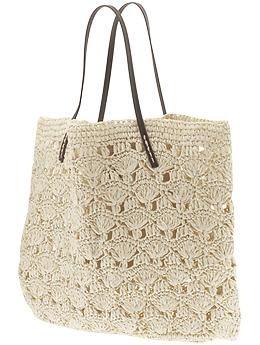 Lace Crochet Tote: