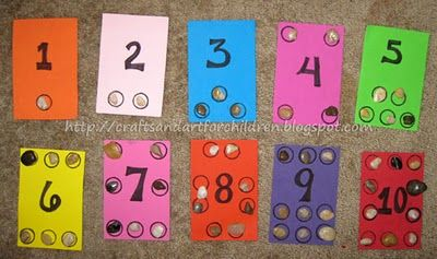 Homemade Number Boards - learing to count