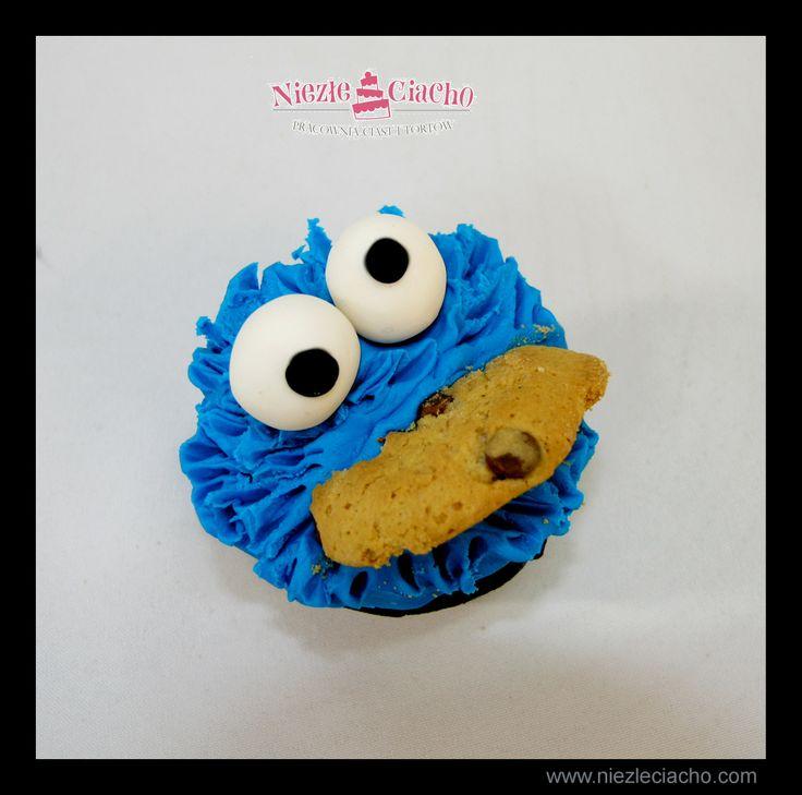 Ciasteczkowy Potwór, Ulica Sezamkowa, cupcake, ciasteczko, babeczka, muffinki, słodki stół, Tarnów