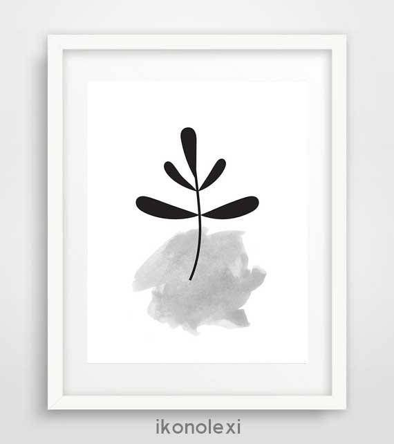 Leaf art black and white prints cool posters large wall