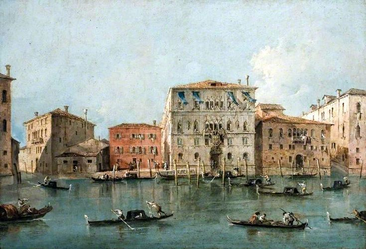 Francesco Guardi – National Museum Cardiff NMW A 29601. View of the Palazzo Loredan dell'Ambasciatore on the Grand Canal, Venice (c. 1775-1785)