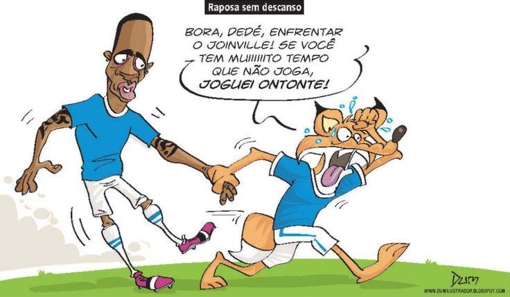Charge do Dum (Zona do Agrião) sobre a volta de Dedé (21/03/2017) #Charge #Futebol #Cruzeiro #Dedé #HojeEmDia