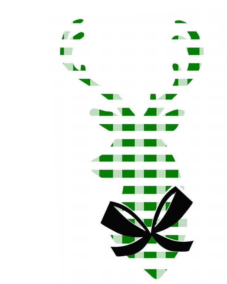 Printable Deer Silhouette Green Plaid.jpg - Bestand gedeeld via Box
