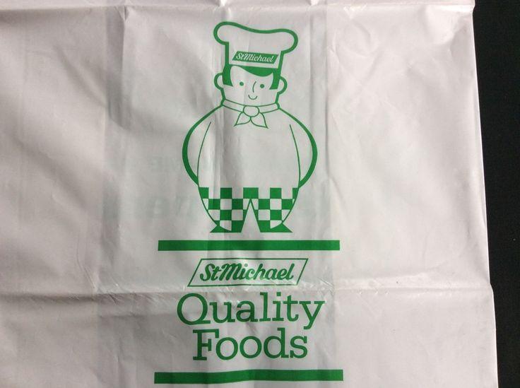 Vintage Marks Spencer M&S Carrier Bag 1980s 8