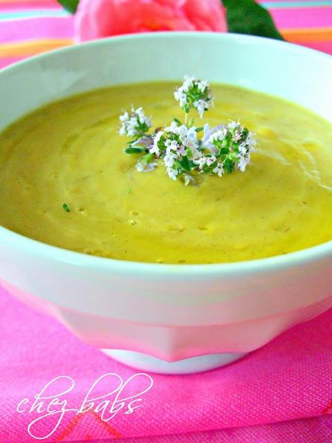 crema di zucchine e zafferano