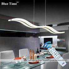 Wow ÚJ Szabályozható Modern LED csillárok számára ebédlő hálószoba studyroom csillár fényei 110V 220V lampadario kontroll (Kína (szárazföld))
