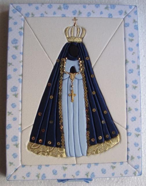 patchwork embutido-Nossa Senhora Aparecida by Lou Ortellado, via Flickr