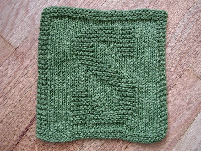 """Knitted """"S"""" cloth by Rhonda White   knitting patterns ..."""