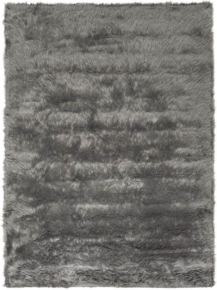Faux Sheep Skin Novelty Indoor Area Rug Grey