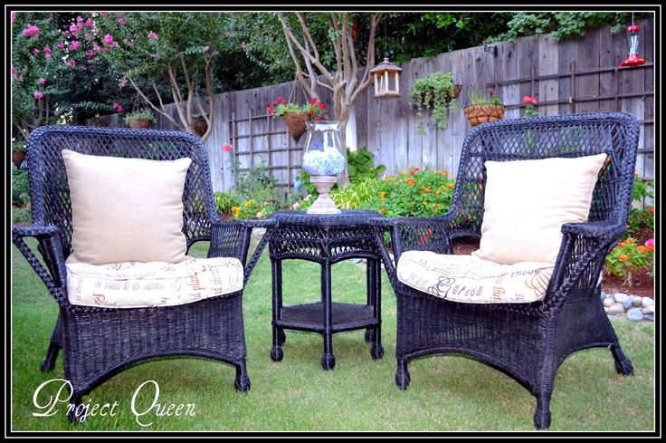 Painting Wicker Furniture - Best Home Office Furniture Check more at http://cacophonouscreations.com/painting-wicker-furniture/