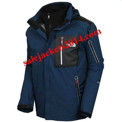 2013 Men North Face Gore Tex Water Blue Jackets, Most Items more than 55% off Women's North Face Outlet!,KIds ,Mens TNF Coats