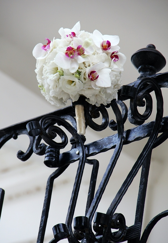 Specia wedding bouquet with phaleonopsys...