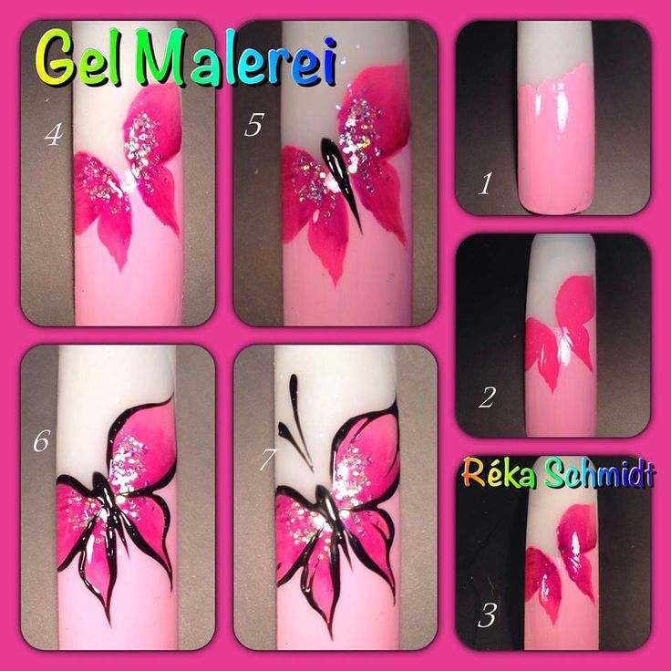 Butterfly Nail Designs Step By Step: 17 Best Images About One Stroke On Pinterest