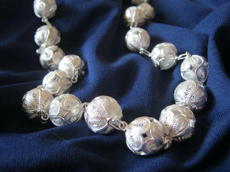 Naszyjnik srebrny rękodzieło Malta upominek