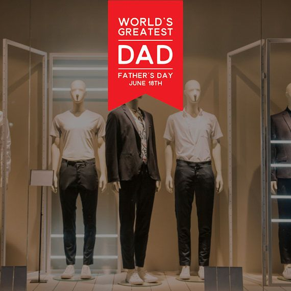 Worlds greatest dad fathers day retail display