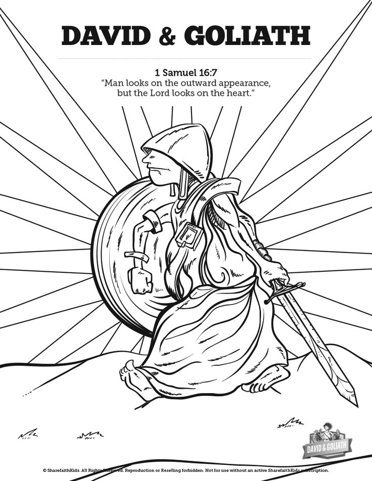 david and goliath sunday school coloring pages a great bible story deserves some great coloring