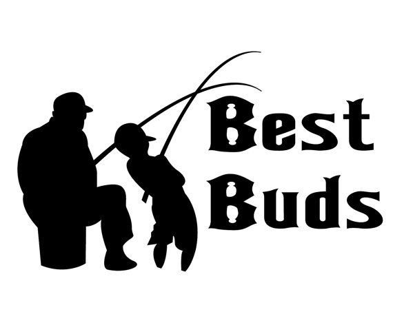 Fishing decal best buds decal fishing lover sticker for Michigan one day fishing license