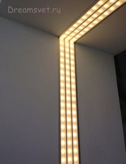 Светодиодное освещение на балконе.