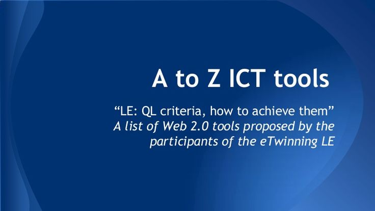 A to z ict tools
