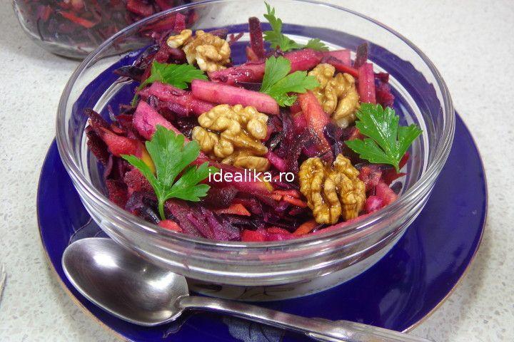 Salata detoxifianta cu varza rosie si sfecla este alegerea perfecta daca dorim o cura sanatoasa de slabire, tonifierea organismului si cresterea imunitatii