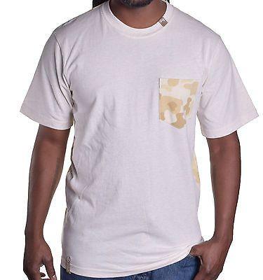 LRG Men's Beige Camo Tee Shirt