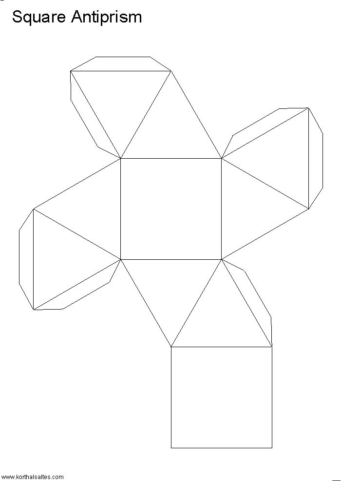 Net rectangular antiprism