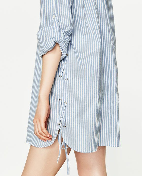 Image 5 of STRIPED SHIRT DRESS from Zara