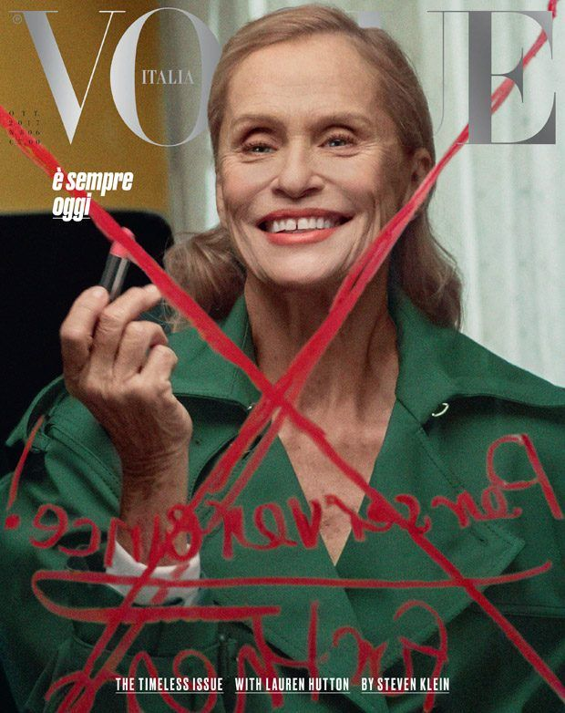#TheTimelessIssue: Lauren Hutton Stars on the Cover of Vogue Italia