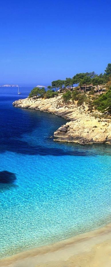 Cala Salada Beach, Ibiza, Spain