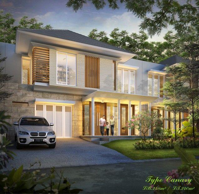 Desain Rumah Tipe 258 Luas Tanah 240 Kontemporer Modern