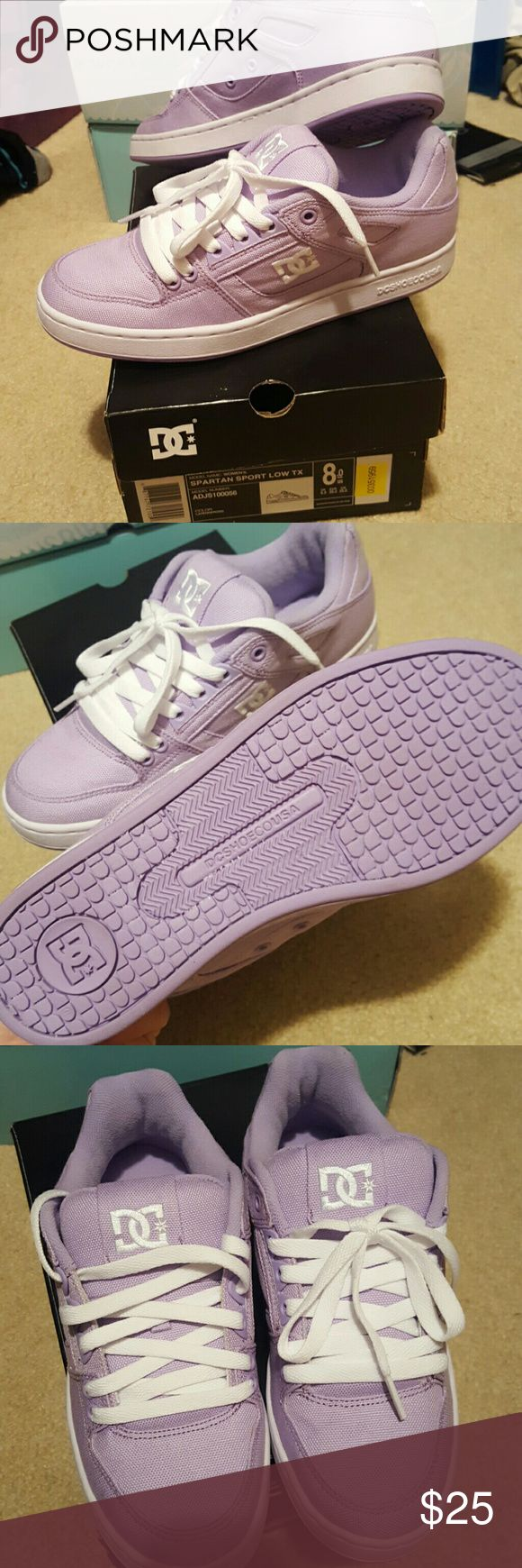 Purple DC Shoes New in box, lavender, womens size 8 DC Shoes Sneakers