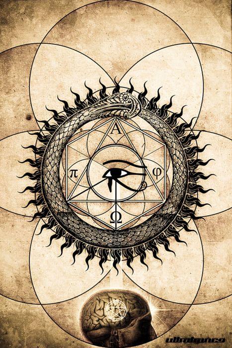 Ojo de Horus; simboliza la mirada de la justicia que todo lo ve.