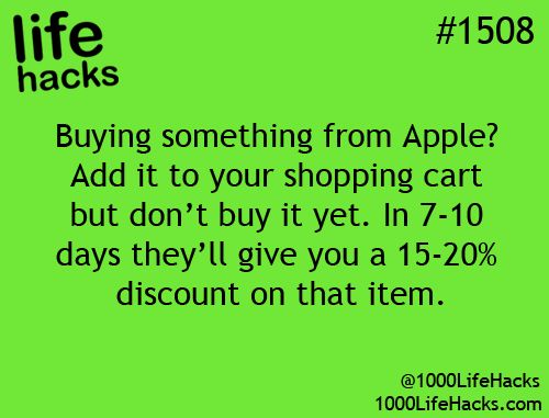 This could be very helpful someday... Doubtful that it works on anything but accessories, though still worth trying! buying stuff from apple