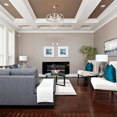 Painting, Color Scheme But W/ Blue Couch? Fascinating Turquoise Decorating  Ideas: Luxury Living Room Grey Sofa Decorating With Turquoise Part 87