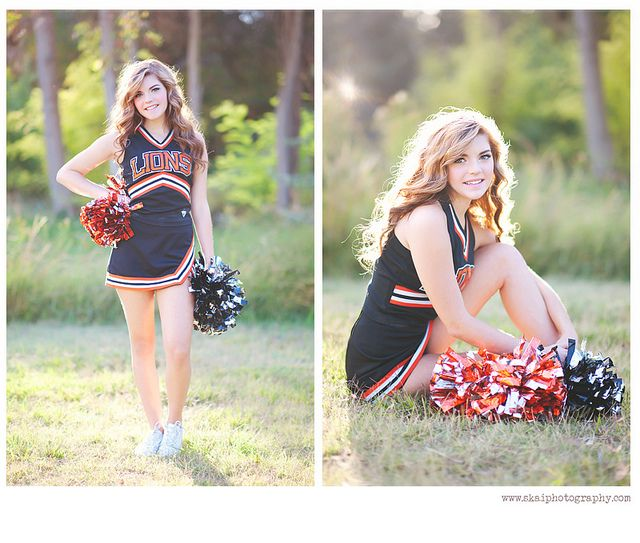 I like these poses for senior cheer pics