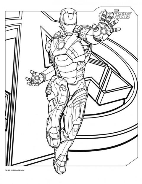 Coloriage Iron Man - Avengers  http://www.papa-blogueur.com/coloriage-avengers-marvel-dessin-gratuit