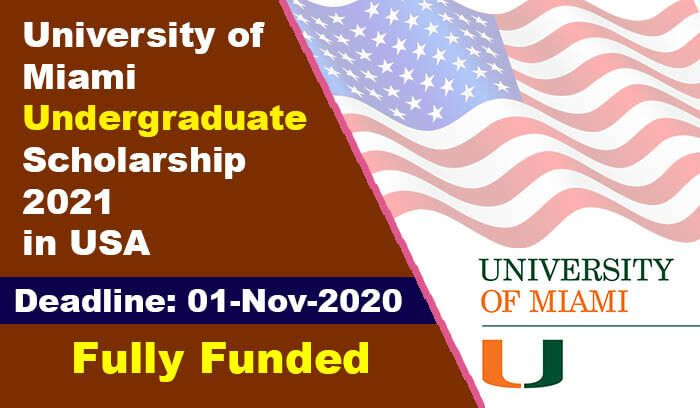 University of Miami Undergraduate Scholarship 2021 in USA ...