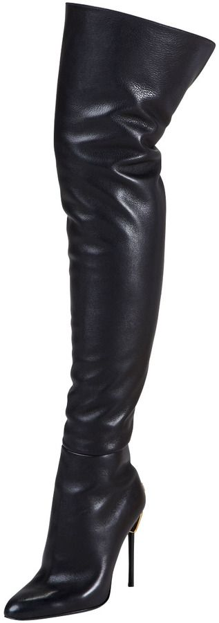 Black Leather Over The Knee Boots by Tom Ford. Buy for $1,990 from Bergdorf Goodman