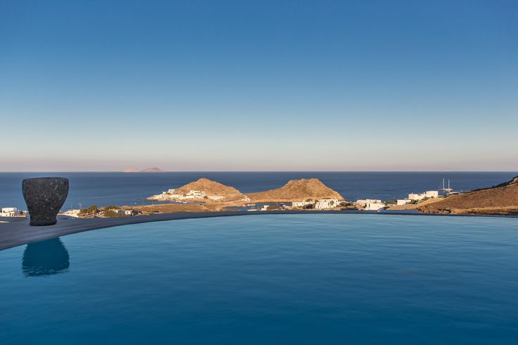 ALEGRIA villa | double coasts view from the pool | Mykonos