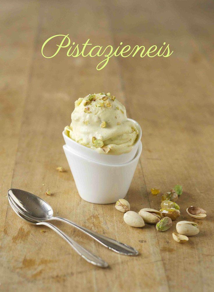 Pistazien-Vanille-Eiscreme