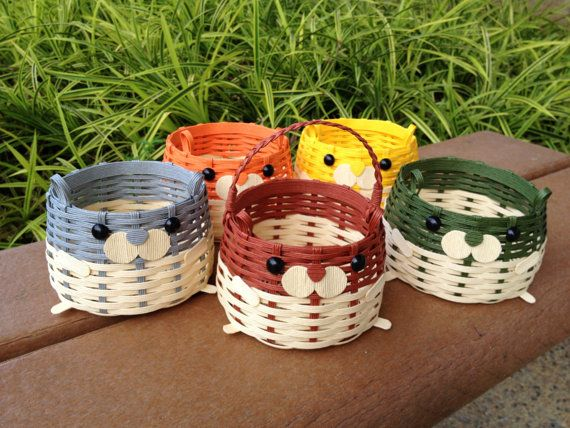 Eco Craft Cute Hamster Basket by MidoriCrafts on Etsy, $22.50