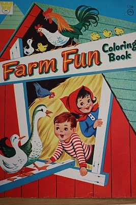 I must have had this coloring book. I felt an instant connection to the image when I saw it.
