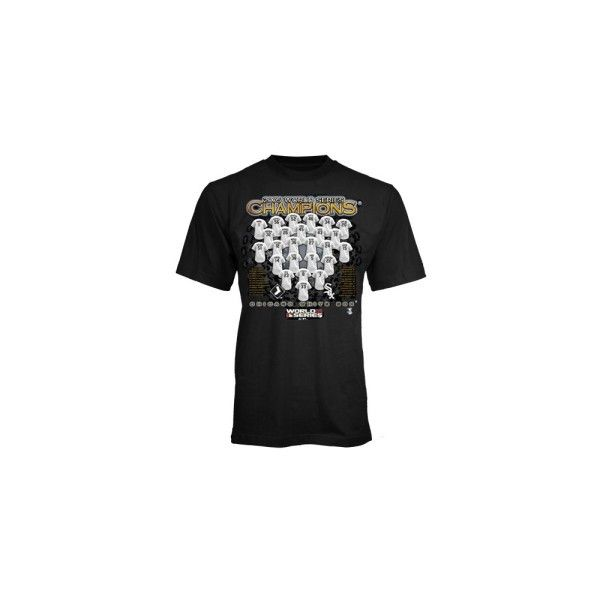 Chicago White Sox YOUTH 2005 World Series Champions Roster Black T-shirt