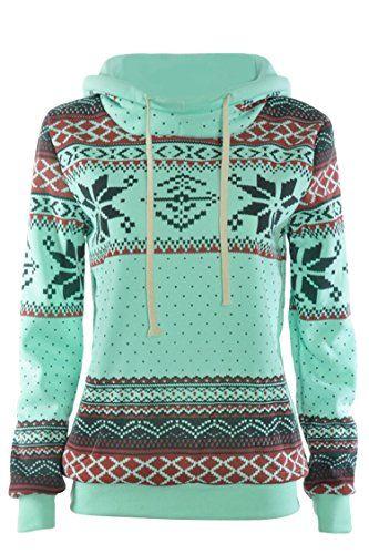 DJT Women's High Collar Long Sleeve Hooded Sweatshirt - http://darrenblogs.com/2015/11/djt-womens-high-collar-long-sleeve-hooded-sweatshirt/